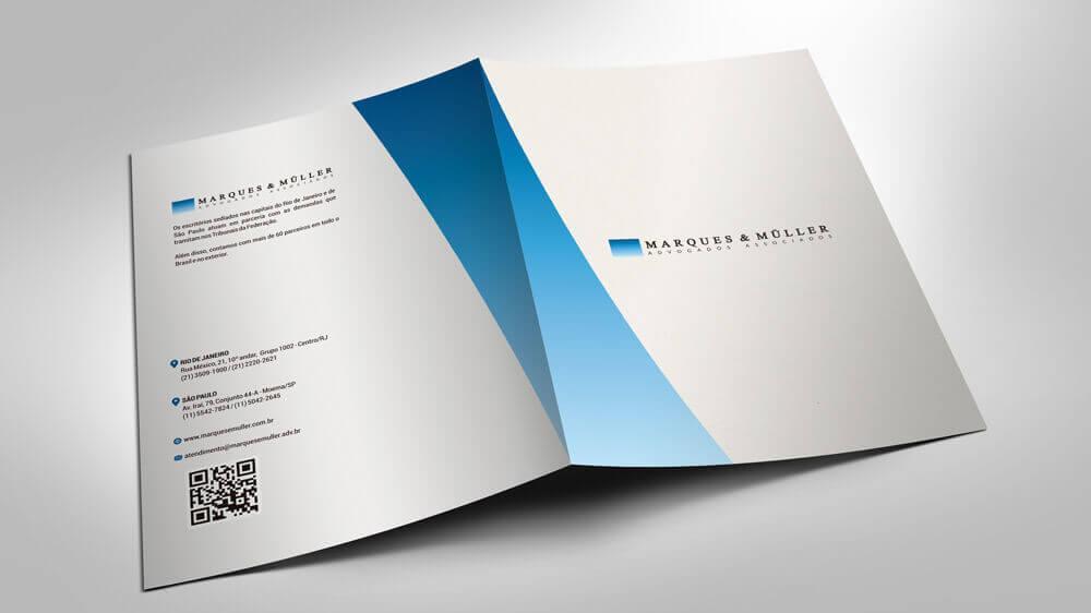 Impressão - produção gráfica - Pastas - Marques e Muller Advogados